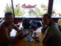 Darko Mihalić sa djevojkom  Vedranom Džapo i gumenjakom u Vignju